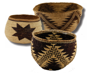 Hupa Bowl, Modoc Cooking Bowl, Wintu Bowl with Achumawi influence