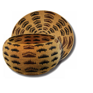 Maidu Coiled Bowl and Tray