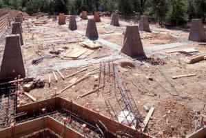 Concrete pillars