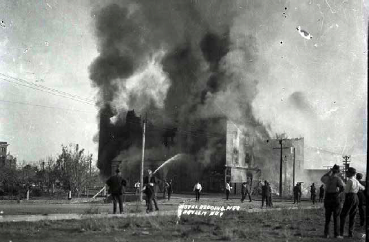 Redding Hotel fire, November 25, 1917