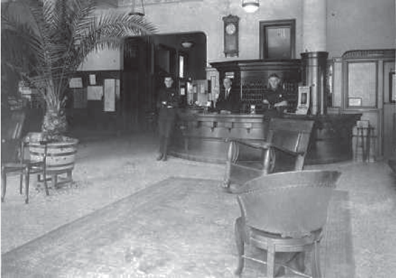 Early hotel interior